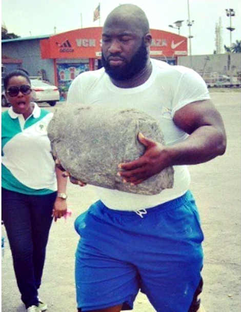 Meet Olu-Heavy, Nigeria's 'Strongest Man' Who Is Participating In 'World's Strongest Man' Competition (Photos)
