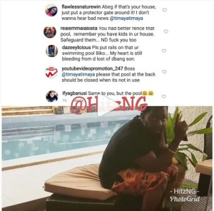 """Fence Your Pool"" - Fans Tell Timaya Following The The Tragedy Of D'banj's Son (Pics)"