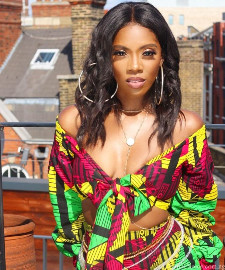 'African Bad Gyal' Tiwa Savage Wows In Ankara Outfit Ahead Of Her Show In London