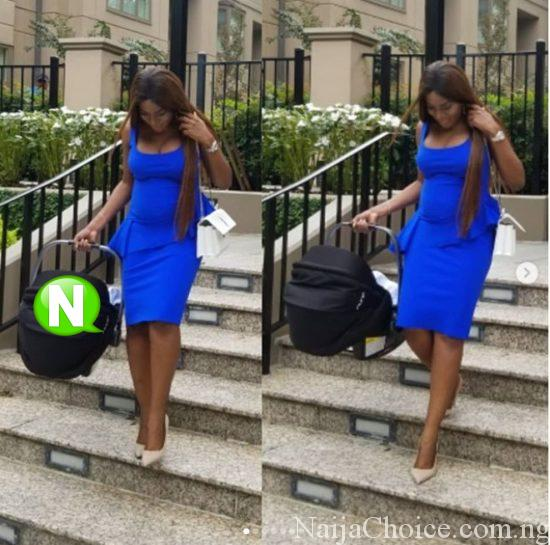 Linda Ikeji Steps Out With Her Son For The First Time (Photos)