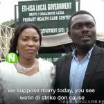 This Couple couldn't Get Married at the Registry due to the Nationwide Labour Strike