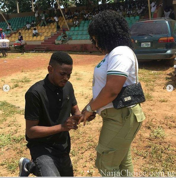 Love In The Air: NYSC Member Gets Engaged During Her Passing Out Parade In Ebonyi (Photos)