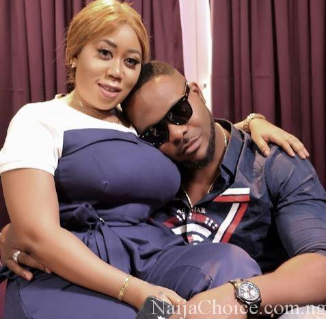 Photo Of Nollywood Actor, Ninalowo Resting His Head On Moyo Lawal's Chest Goes Viral