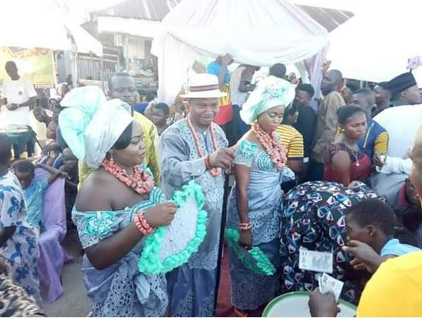 Photos From The Wedding Of Prince Who Married Two Women On The Same Day In Delta