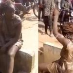 #FRESHMADNESS: Lady Allegedly Used By Yahoo Boys Runs Mad In Ijebu Ode (Watch Video & Photos)
