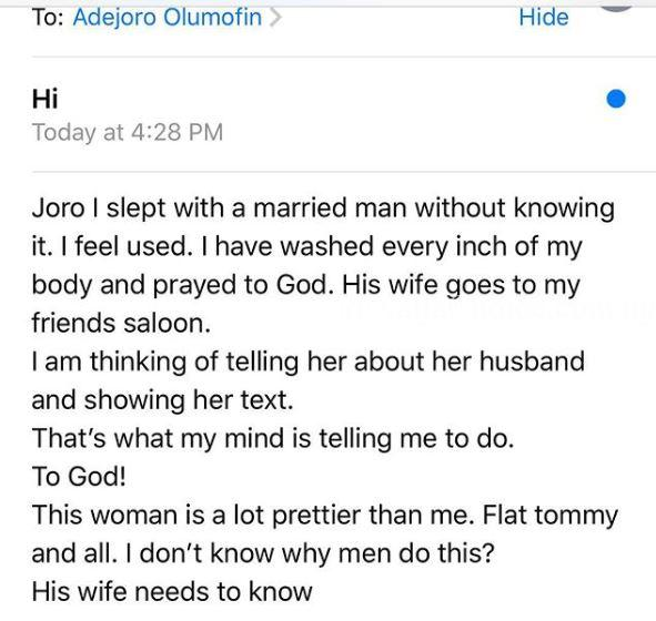 How I Mistakenly Slept With A Married Man - Lady Recounts Bad Romanc