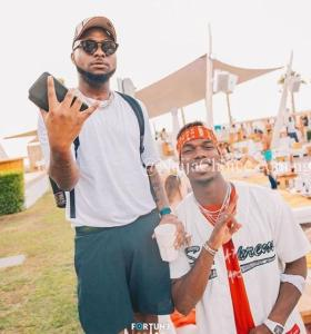 Wow! Davido Spotted Partying With Man U Star, Paul Pogba In Dubai (Photos)