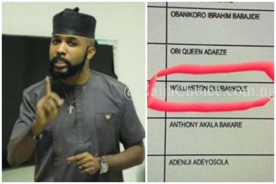 Banky W Reacts As INEC Spelt His Name Wrongly On The Ballot Paper