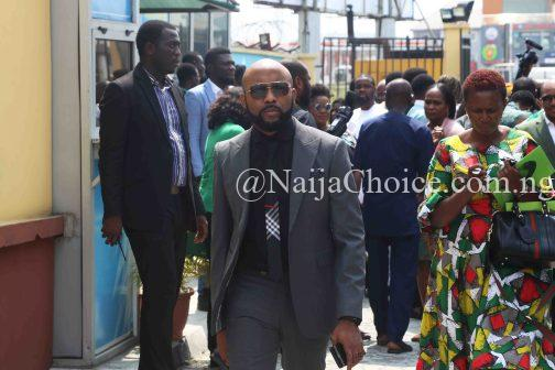 Banky W Spotted Seriously Campaigning For Election From Door-To-Door In Lagos (Video)