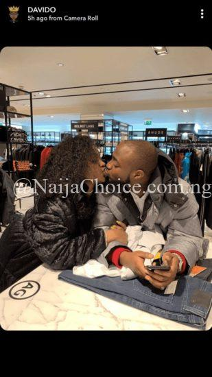 In London, Davido and Chioma Share Passionate Kiss As They Reunite