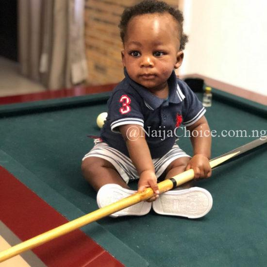 Reekado Banks' Son takes all the attention away from mum and dad