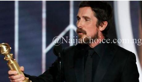 Watch The Moment Popular Actor, Christian Bale Thanked Satan At 2019 Golden Globes (Video)