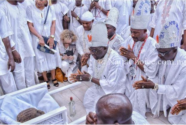 Wow! See The Viral Photos Of Ooni Of Ife Participating In The Oshoosi Festival (Photos)