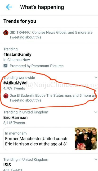 Valentine: 'Atiku My Val' Trends On Twitter (Photos)