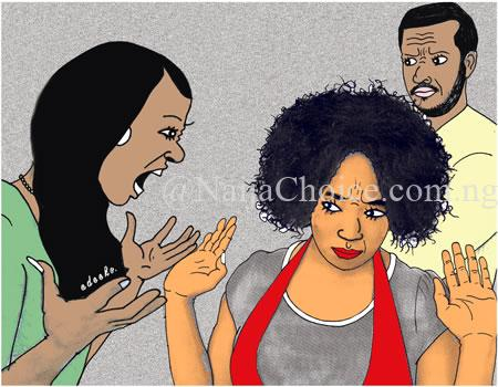 Unbelievable! Mother And Daughter Dating The Same Boyfriend Fight Dirty Over Him In Anambra