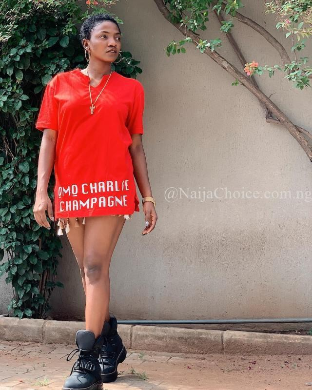 Simi Looks Adorable After Cutting Her Hair Low (Photos)