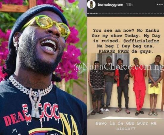 How EFCC ruined Burna Boy's day after arresting Zlatan Ibile andy Naira Marley