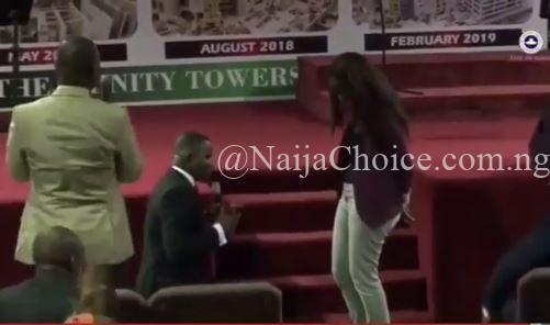 Man Pulls A Surprise Proposal On His Girlfriend During A Church Service In Lagos (Video)