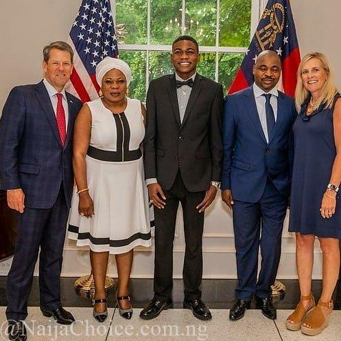 Trending: Photo of MC Oluomo & Family With Governor of Georgia, USA