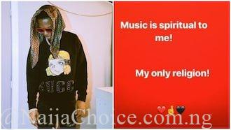 Wizkid reveals music is his only religion