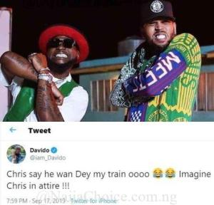 Chivido2020! Davido Says Chris Wants To Be On His Train