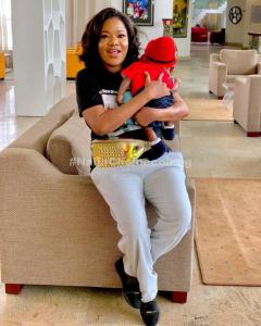 Baby Ire Steps Out on Movie Date with Mommy Toyin Abraham in Abeokuta