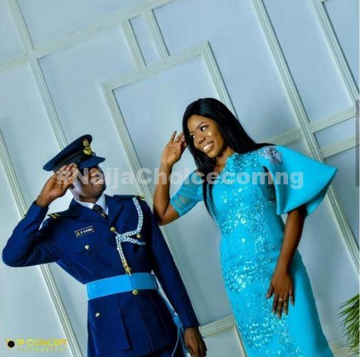 Nigeria Airforce Officer Teaches His Fiancee How To Salute In Pre-wedding Photos