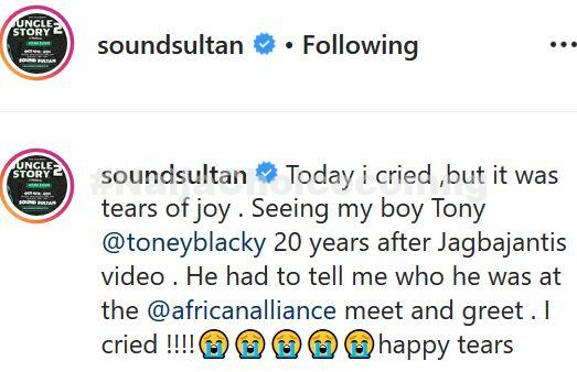 Popular Singer, Sound Sultan Reduced To Tears After Reunion With 'Jagbajantis' Student