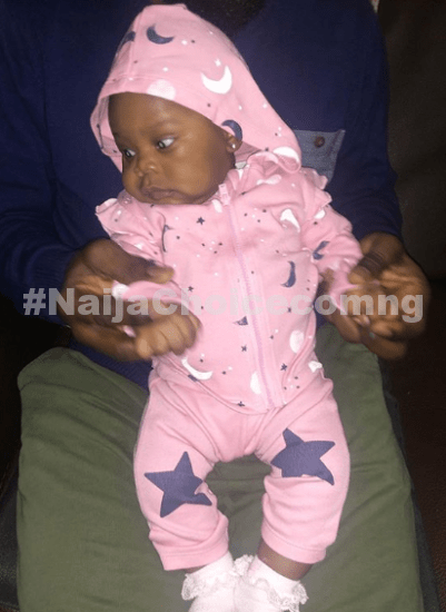 Olamide's rumored babymama, Maria Okan shares full photos of her daughter