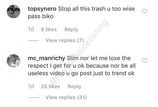 You Lack Class, Fans blast Slimcase for turning his IG to the hub of strip videos