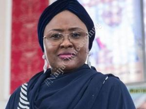 Excitement As Aisha Buhari Distributes Food Items To Christian Families