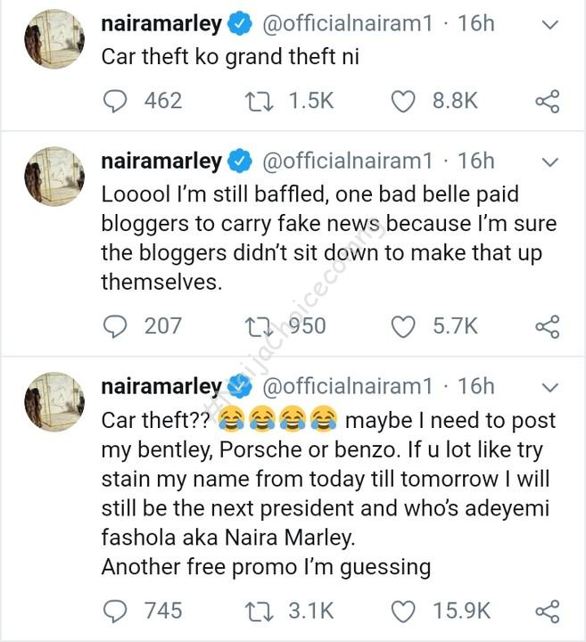 Naira Marley Finally Breaks His Silence Over Car Theft Allegation