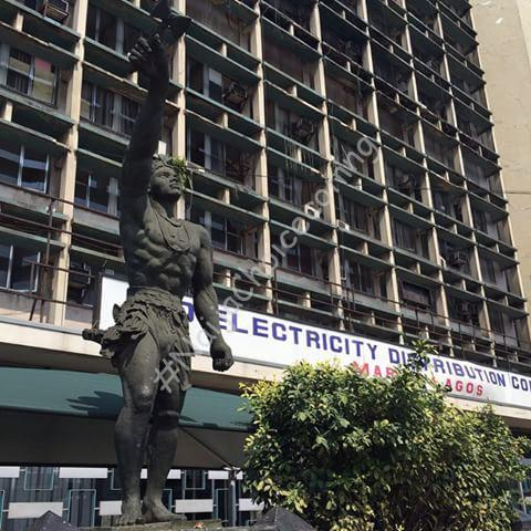 The Black Nepa Sango Statue @ Marina Lagos Is Wearing A New Look!