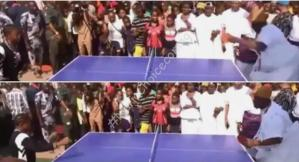 Wow! Ooni Of Ife Spotted Playing Table Tennis With Children In Interesting New Video