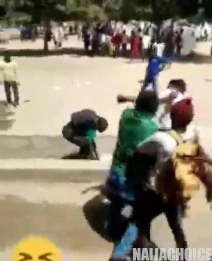 Shocking! Secondary School Students Caught On Camera Beating Their 'Teacher' In Katsina (Video)