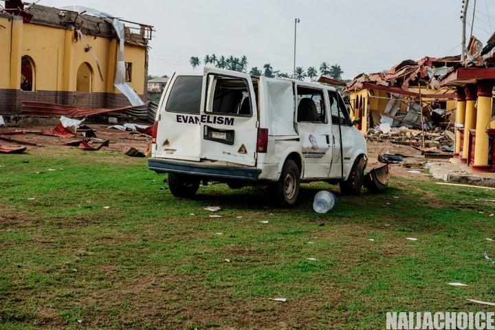 Governor Akeredolu Visits Akure Explosion Site, Gives Report Of Event (Photos)