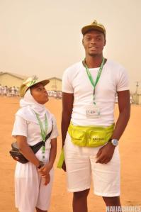 Tallest Abuja Corper Vs Shortest Abuja Corper  As They Meet In Camp (Photo)