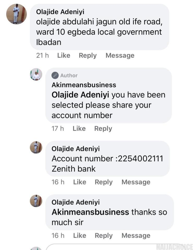 COVID-19: Akin Alabi Continues Palliative Handout With Cash Giveaway On Facebook