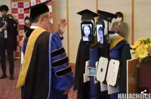 COVID-19: See How This Japanese University Conducted It's Graduation Ceremony (Pics)