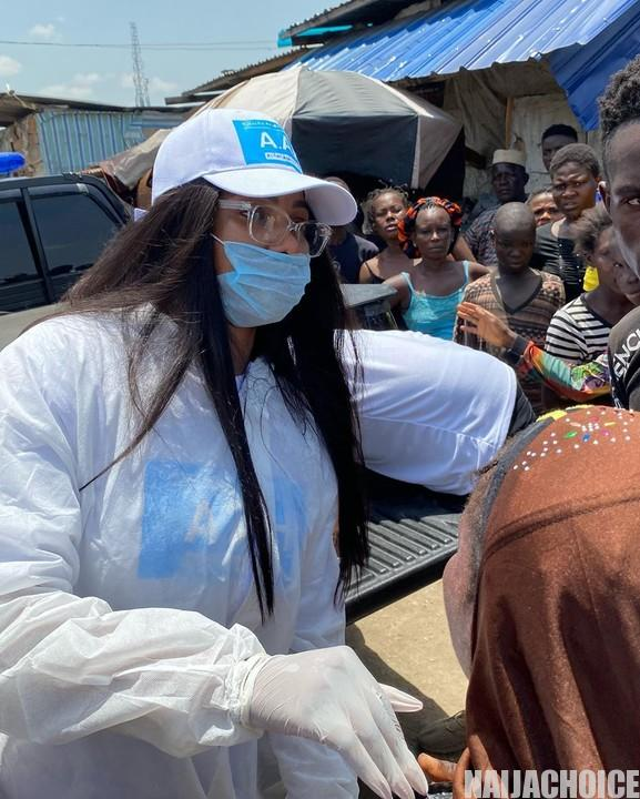 Tacha Give Outs Food To Less Privileged Today With Her Friend, Sirdee