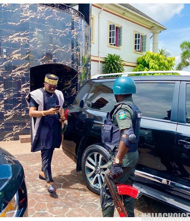 E-Money Steps Out In Style With Police Security (Photos)