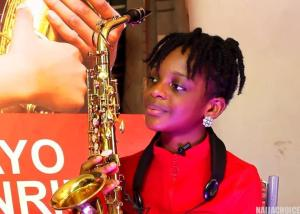 Meet Temilayo Abodunrin,nigeria's 10years Old Talented Saxophonist