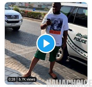 Hushpuppi Seen Using His Phone Today, Despite Arrest By Dubai Police (Video)
