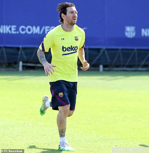 Messi Shows Off Scars From Sevilla Star Carlos's Horror Challenge In Training