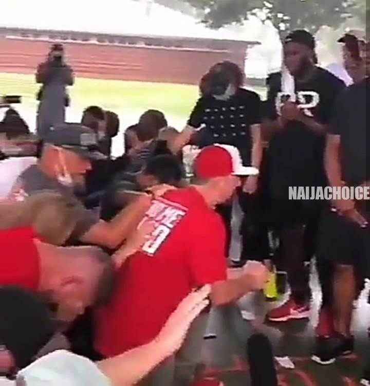 Whites Kneel Before Blacks To Beg For Forgiveness For Years Of Racism In Houston