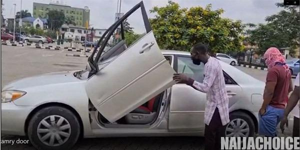 2003 Toyota Camry With Lamborghini Doors Spotted In Lagos (Video)