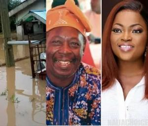 Funke Akindele Gifts Pa James An Apartment  After Flood Took Over His Home