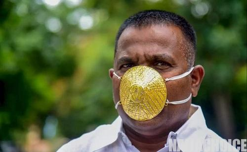 Man Buys N1.5m Gold Face-mask To Save Him From Coronavirus (Photos)