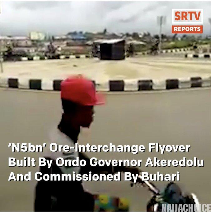 Ore-Interchange Flyover Built By Akeredolu  & Commissioned By Buhari Cracks (Video)