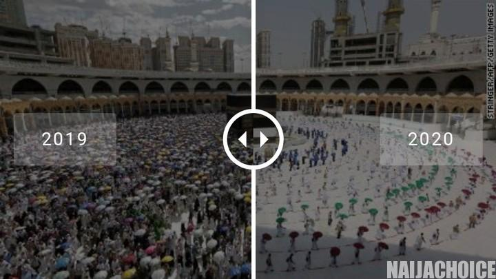 Social Distancing During Hajj Pilgrimage. Number Reduced From 2 Million To 1,000